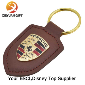 Traditional Gifts Gold Car Keychain with Custom Logo