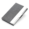 Stainless steel leather business card case