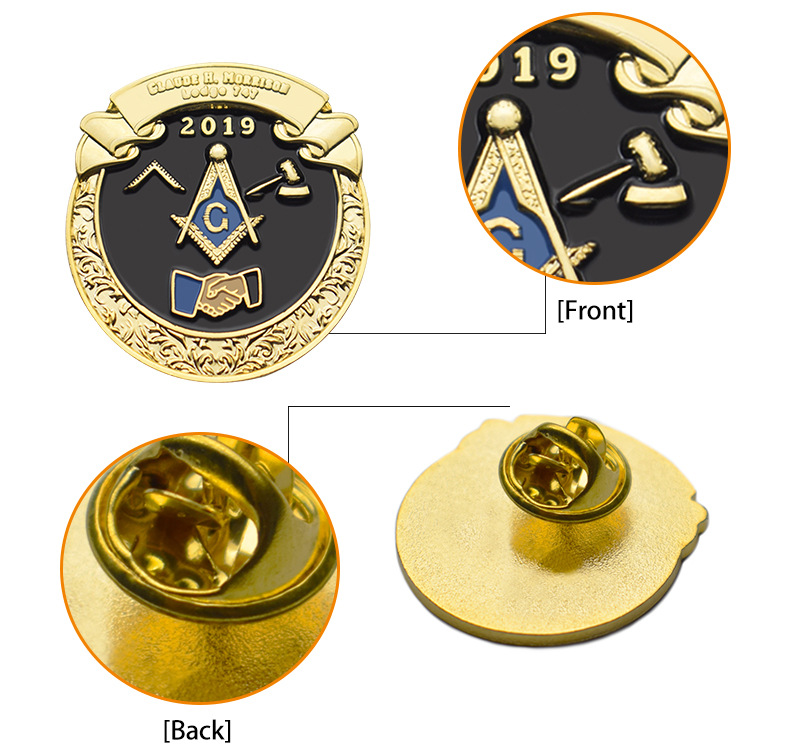 ISO9001 Manufacturer More 15 Years Experience Custom Metal Badge Enamel Lapel Pin