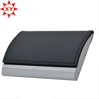 High Quality Rectangular Shape Leather Metal Business Card Holders