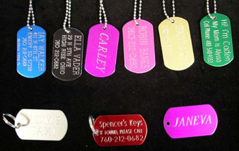 Colorful Engraved Name Dog Tag