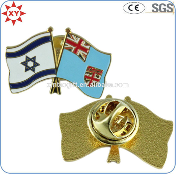 Personalized Enamel Quality National Flag Lapel Pins with Butterfly Clasp