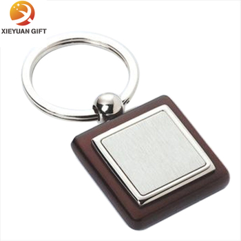 Square Logo Engrave Wood Strap Hold Keys
