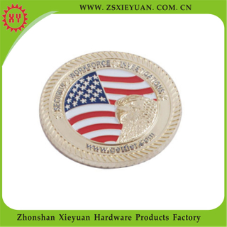 2015 Factory Direct Sale Custom Enamel Metal Coins