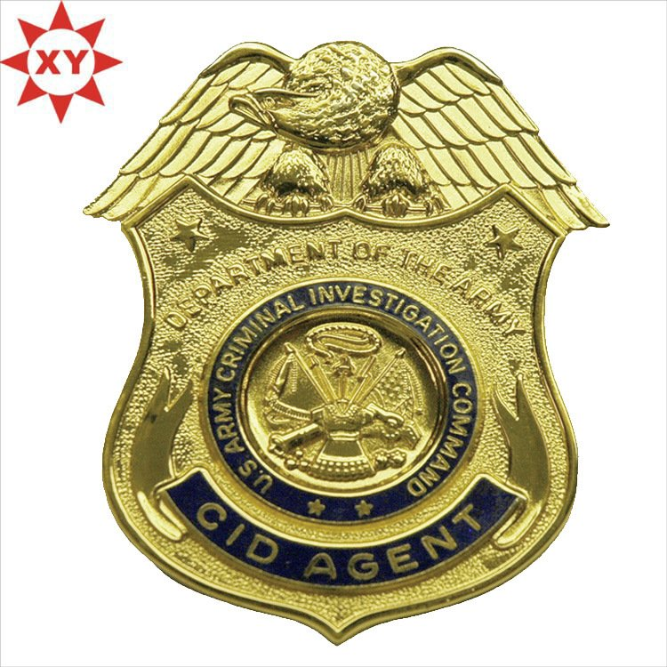 Custom Gold Metal Badges with Eagle