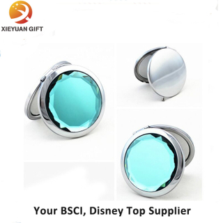 Round Shape Diamond Double Side Mirror Cosmetic
