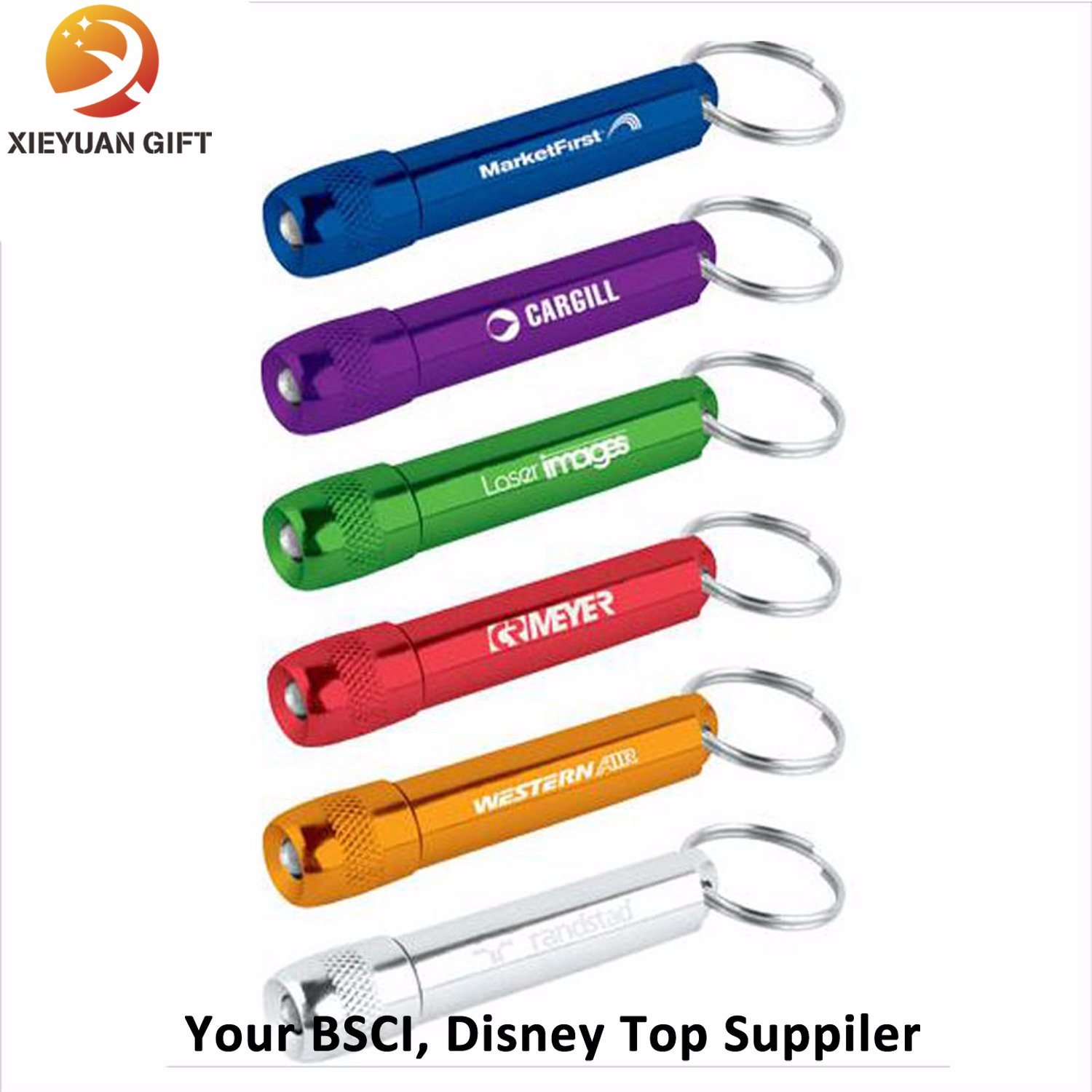 2015 Promotion Pockt Plastic LED Keychain Souvenir Made in China