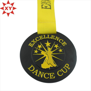 Promotional Cheap Gold Medal with Yellow Ribbon