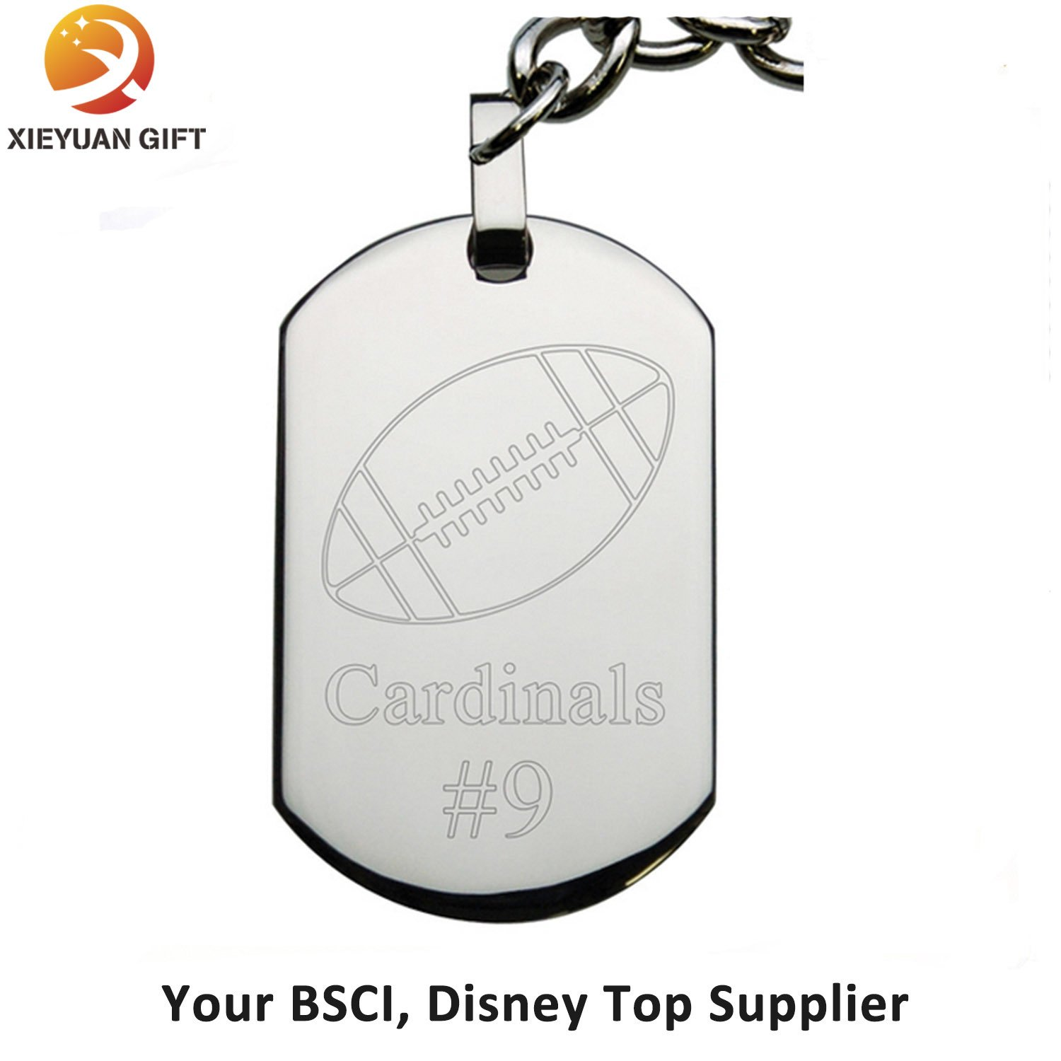 Flower Shape Aluminum Dog Tag