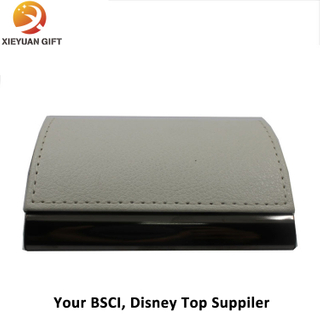 Custom Metal Leather Business Card Holder for Businessman