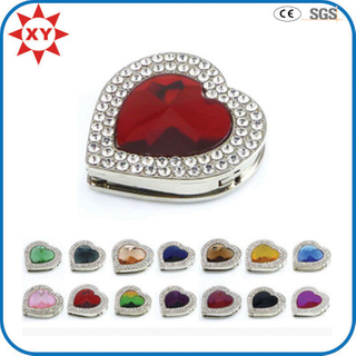 Colorful Heart Shaped Rhinestone Bag Hangers