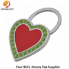 Custom Rad and Green Color Heart-Shape Key Chains