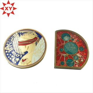 Professional Supplier of Custom Gold Colorful Hard Enamel Commemorative Coin