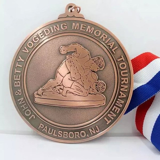 Souvenir Copper Tournament Medals with Ribbon