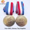 "Custom Epoxy 3"" Round Blank Metal Medals with Ribbon"