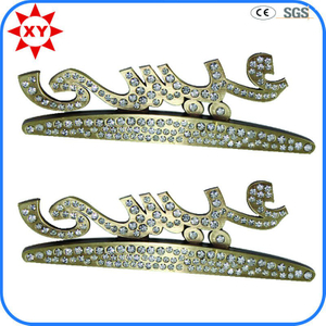 Wholesale Free Mold Silver Lapel Pins with Rhinestone