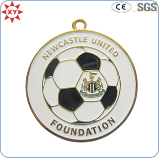 Custom Gold Metal Soft Enamel Soccer Ball Medals