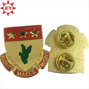 Custom Enamel Metal Shiny Gold Pin Badge