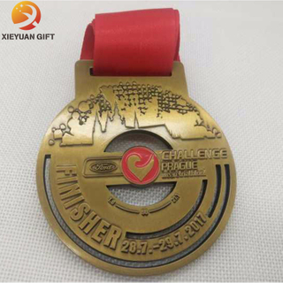 Free Mould Fee Gold Plated Metal Medal