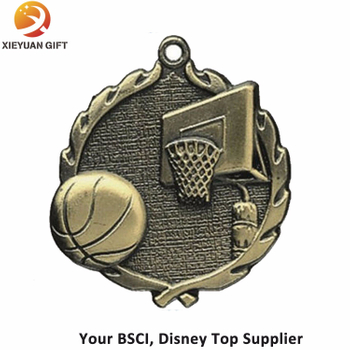 Custom Antique Metal Basketball Medals
