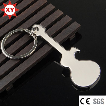 Factory Supply Promotional Guitar Keychain