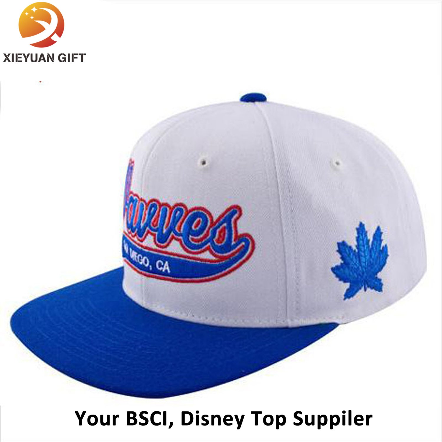 6 Panel Plain Blank Snapback Hat Flat Cap Wholesale
