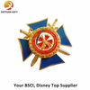 Star Shape Custom Ribbon Lapel Pins Made in China