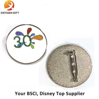 Souvenir Synthetic Enamel Badge Clip Safety Pin