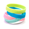 Cheap Concave Word Silicone Wristbands with Your Logo