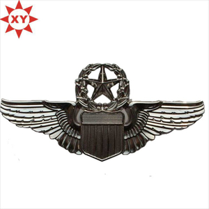 Customized Silver Flying Star Metal Pin Badge