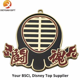 Hard Enamel Medal with Gold Manufacturer in China