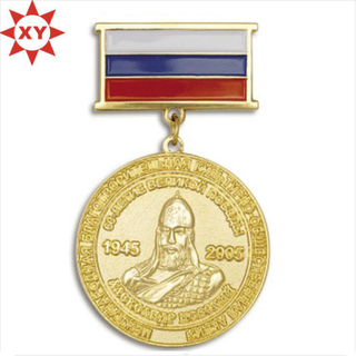 2015 Newest 3D Gold Medal with Ribbon Bar