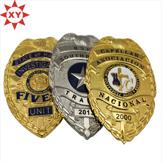 Promotion Sales Metal Badges with Gold