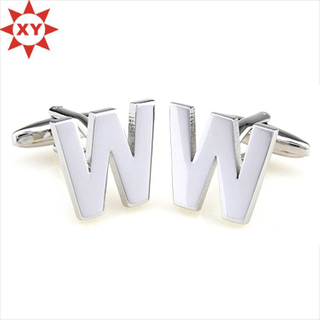 Silver Plating Top Quality Letter Cufflinks (XYmxl1204)