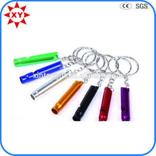 High Quality Custom Shiny Colorful Whistles Keychains