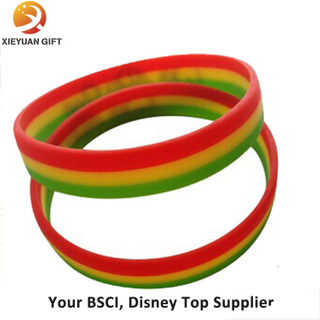 Custom 3 Layer Different Color Silicone Bracelet