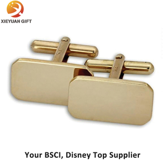 Wholesale Gold Plated Stainless Steel Cufflink