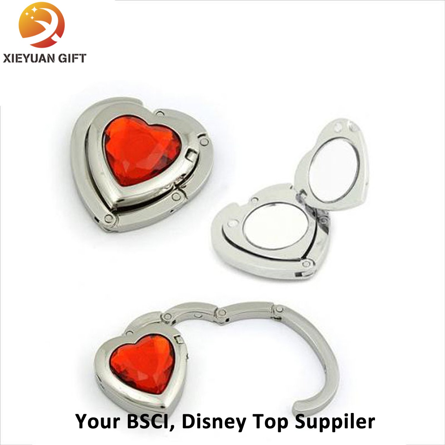 Customized Bag Hanger with Red Rhinestone