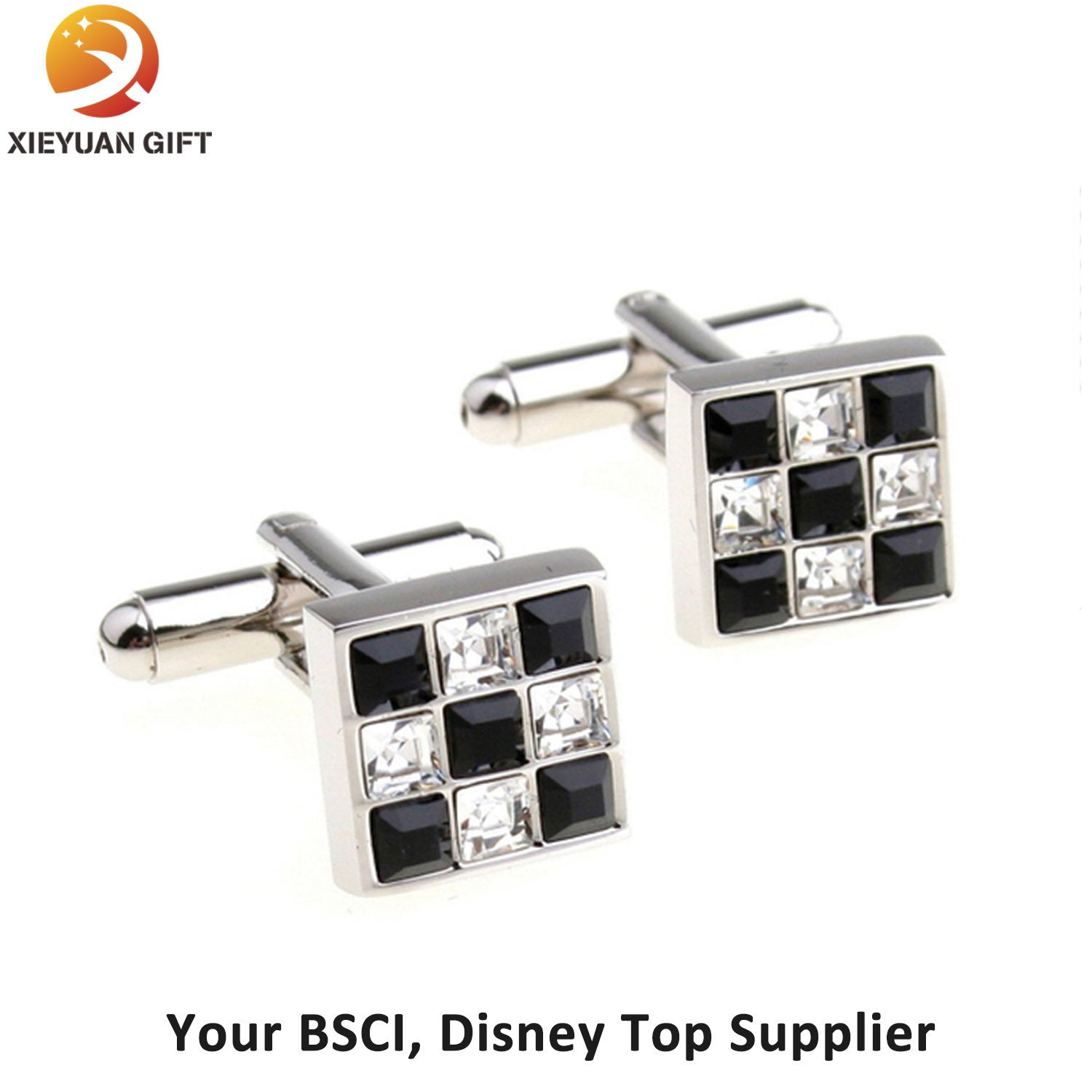 2015 Fashion Round Shape Soft Enamel Custom Cufflinks