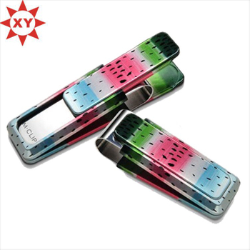 Metal Material Colorful Money Clip for Sale (XYmxl121001)