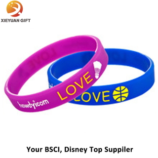 Can Custom Logo Printing Promotional Silicone Bracelet
