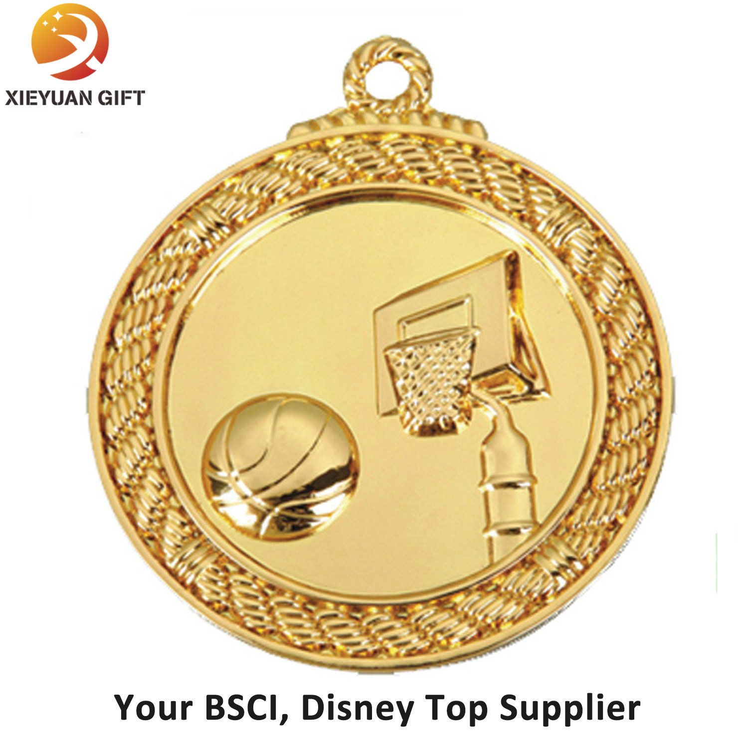 Gold Plating Handmade Basketball Medal