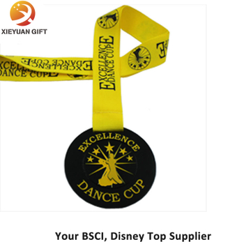 Promotion Medal Soft Enamel Medal with Yellow Ribbon