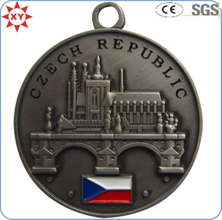 Souvenir Plated Antique Soft Enamel Medals