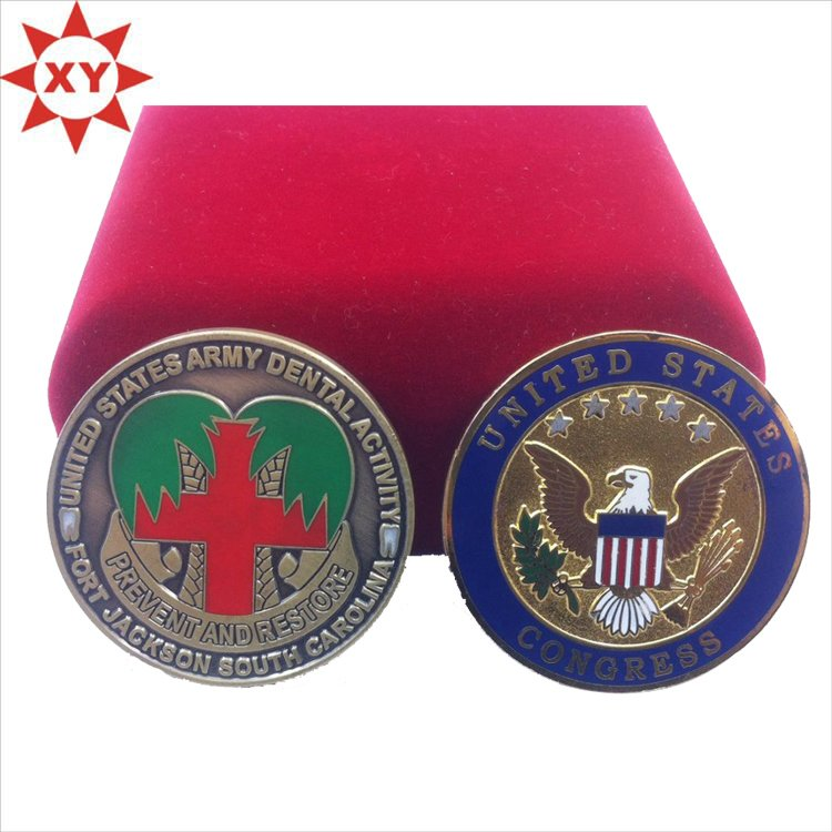 2015 Trending Design Custom Enamel Eagle Metal Coin