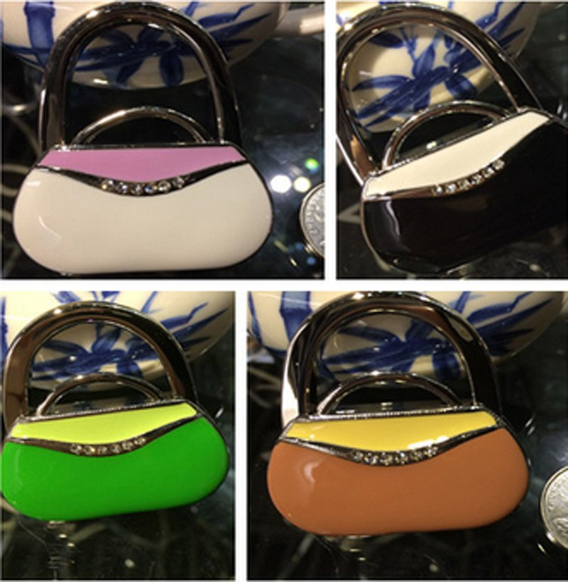 Promotion Gift Enamel Hand Bag Shaped Bag Hanger