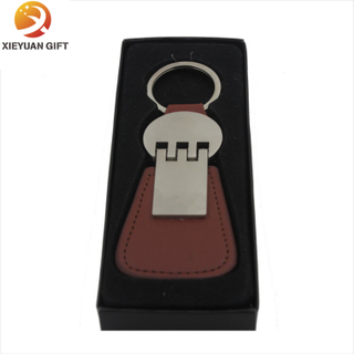 Favorable Braided Leather Keychain with Good Quality