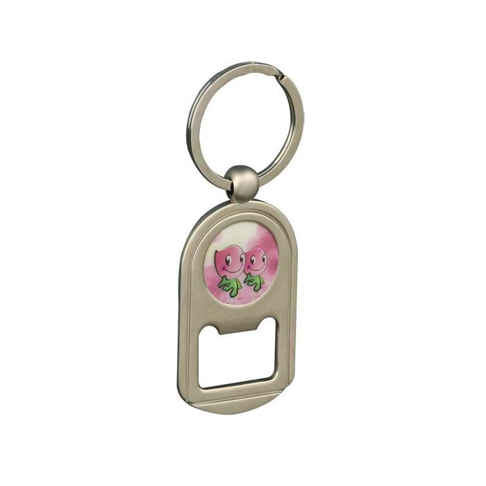 Cheap Sales Metal Opener Keychain with Printing Logo