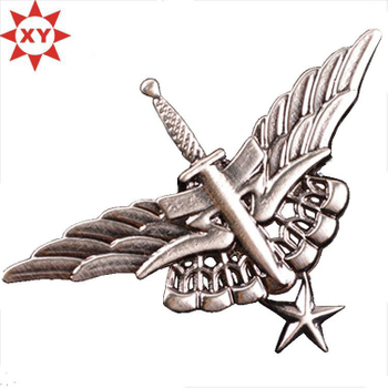 Promotion Silver Flying Star Metal Pin Badge