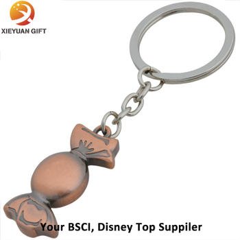 Custom Design Cute Metal Candy Keychain